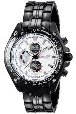 Đồng hồ nam dây thép không gỉ Curren 80KN83 (Đen Mặt Trắng)