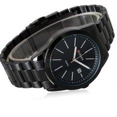 Đồng hồ nam dây thép không gỉ CURREN full black CUR01 ((Đen))