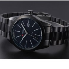 Đồng hồ nam dây thép không gỉ CURREN full black CUR02 ((Đen))