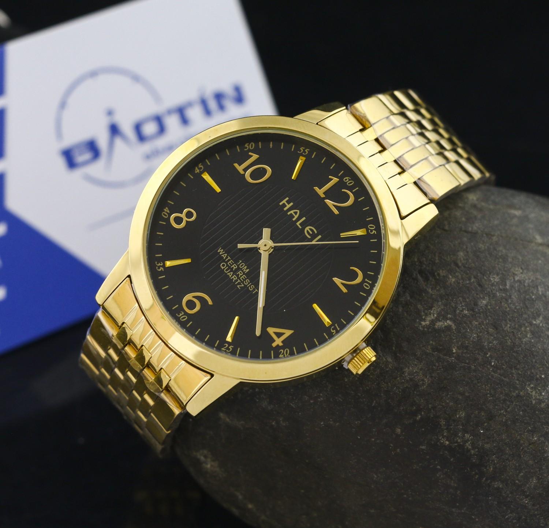 Đồng hồ nam dây thép không gỉ Halei chống nước DHL10074