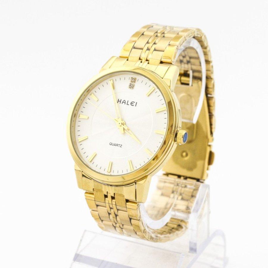Đồng hồ nam dây thép không gỉ Halei SLW12502 (Mạ vàng)