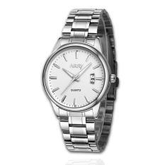 Đồng hồ nam dây thép không gỉ Nary 61KN15 (Mặt trắng)
