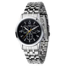 Đồng hồ nam dây thép không gỉ Nary DHN27 (Đen)