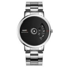 Đồng hồ nam dây thép không gỉ NARY NA1988 (Mặt đen)