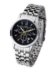 Đồng hồ nam dây thép không gỉ Nary NR003B (Đen)