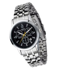 Đồng hồ nam dây thép không gỉ Nary NR004B (Đen)
