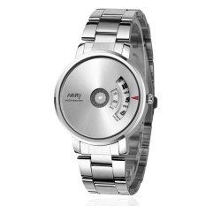 Đồng hồ nam dây thép không gỉ Nary NR666 (Mặt trắng)