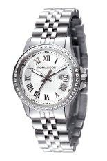 Đồng hồ nam dây thép không gỉ Romanson TM0361QLWWH (Bạc)