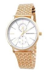 Đồng hồ nam dây thép không gỉ Romanson TM3236FMGWH (Vàng)