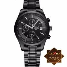 Đồng hồ nam dây thép không gỉ Sino SI6851 full black thời trang