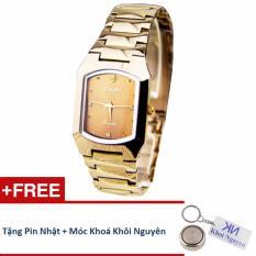 Đồng hồ nam dây thép không gỉ Sinobi 35KCN82 (Vàng) + Tặng pin nhật và móc khoá