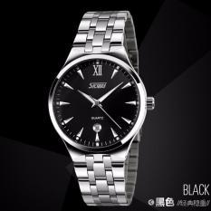 Đồng hồ nam dây thép không gỉ Skmei 9071 mặt đen