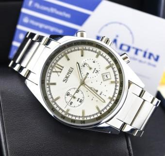 Đồng hồ nam dây thép không gỉ Skmei 9096 (Trắng)