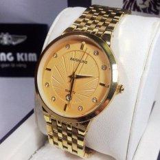 Đồng hồ nam dây thép không gỉ thương hiệu BAISHUNS 6223(Gold)