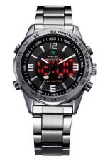 Đồng hồ nam dây thép không gỉ Weide AC001 (Đen)