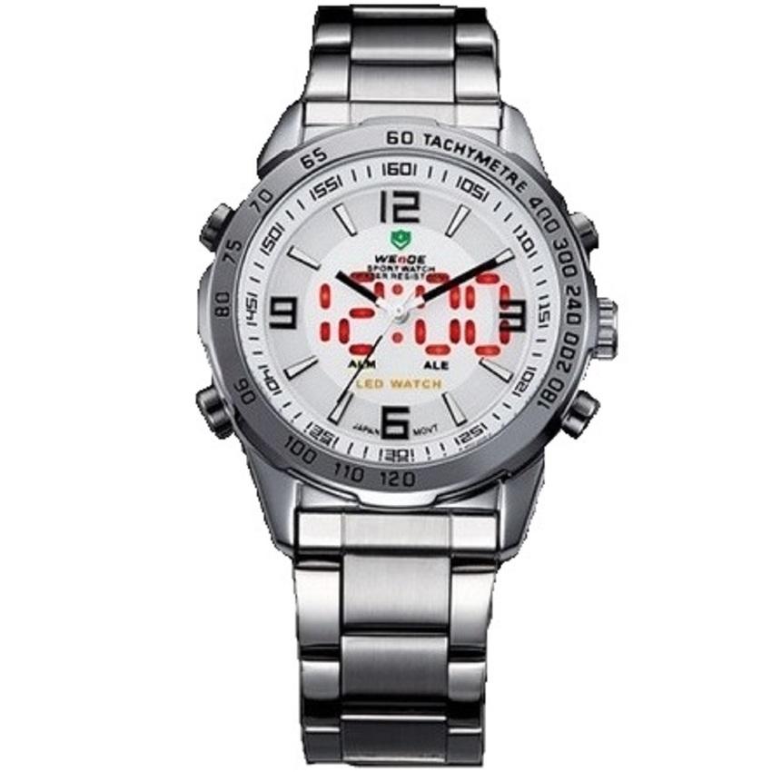 Bảng Báo Giá Đồng hồ nam dây thép không gỉ WEIDE WE001 (Trắng)