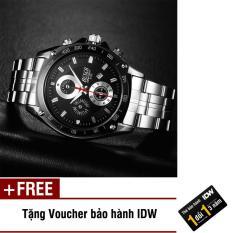 Đồng hồ nam dây thép không rỉ cao cấp Bosck IDW S0441 + Tặng kèm voucher bảo hành IDW
