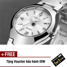 [Có video quay thật] Đồng hồ nam dây thép không rỉ cao cấp Nary IDW 2563 (Mặt trắng) + Tặng kèm voucher bảo hành IDW