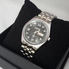 Đồng hồ nam dây thép không rỉ Nary 8871 (Mặt đen)