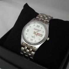 Đồng hồ nam dây thép không rỉ Nary 8872 (Mặt trắng)