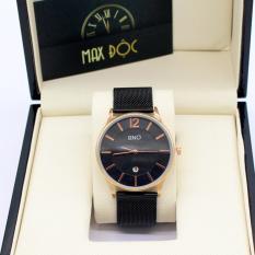 Đồng hồ nam dây thép lưới SINO MDH-8155 (đen viền vàng)