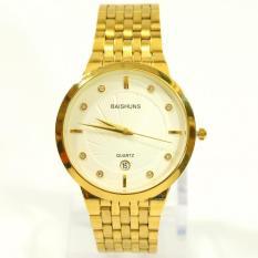Đồng hồ Nam dây thép mạ vàng BAISHUNS BS3905A