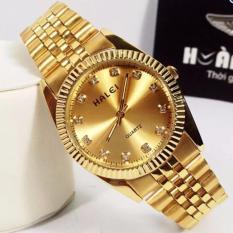 Đồng hồ Nam dây thép mạ vàng chống nước HALEI 356M233