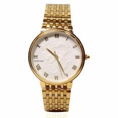 Đồng hồ nam dây thép mạ vàng mặt rồng BAISHUNS BAS11003 (Mặt trắng)