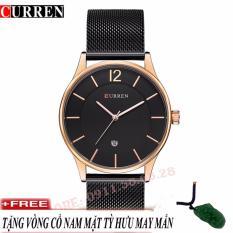 Đồng hồ nam dây thép mảnh không gỉ cao cấp CURREN 8231+ dây chuyền nam mặt tỳ hưu