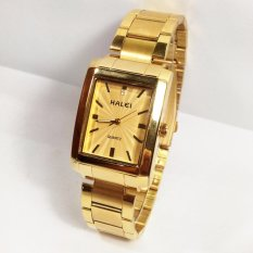 Đồng hồ nam dây thép mặt vuông HALEI HA1395M (Vàng)