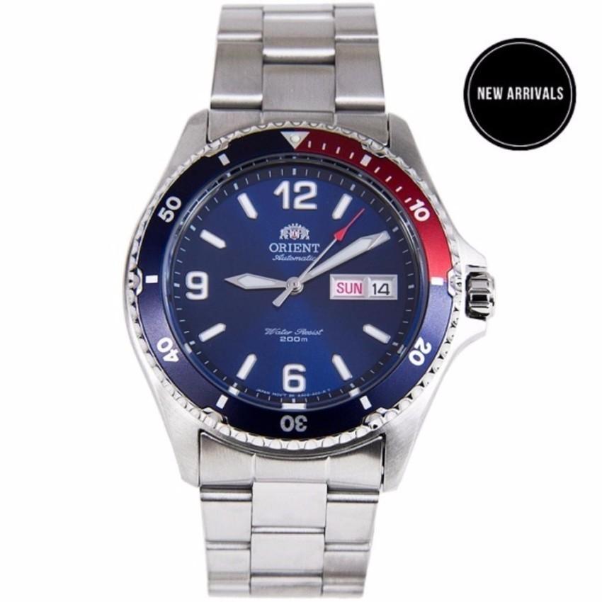 Đồng hồ nam dây thép Orient Mako II Pepsi FAA02009D9