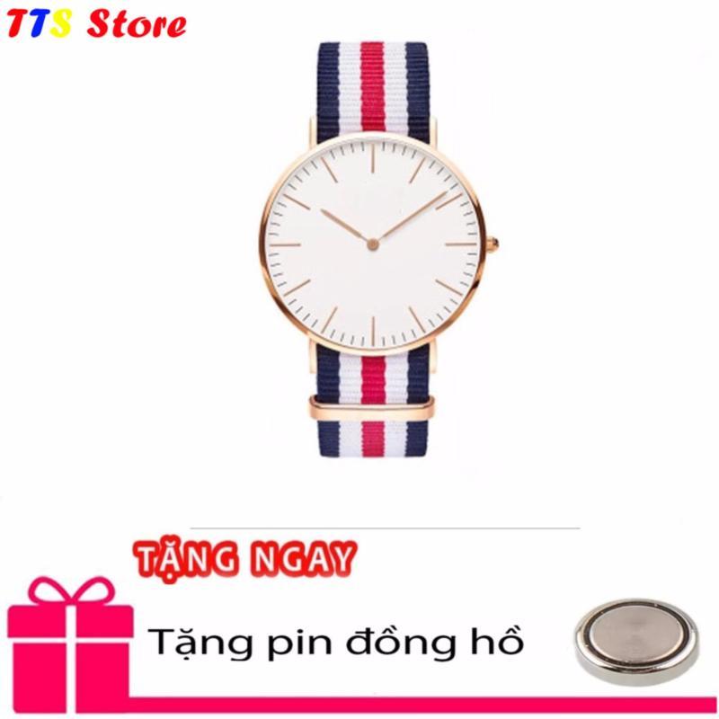 Nơi bán Đồng hồ Nam dây vải 5 màu chống nước TTS + Tặng pin đồng hồ