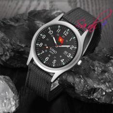 Đồng hồ nam dây vải quân đội Sino Japan SI8699 (dây đen) – Phiên bản đặc biệt
