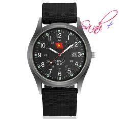 Đồng hồ nam dây vải quân đội Sino Japan SI8699 – Màu đen