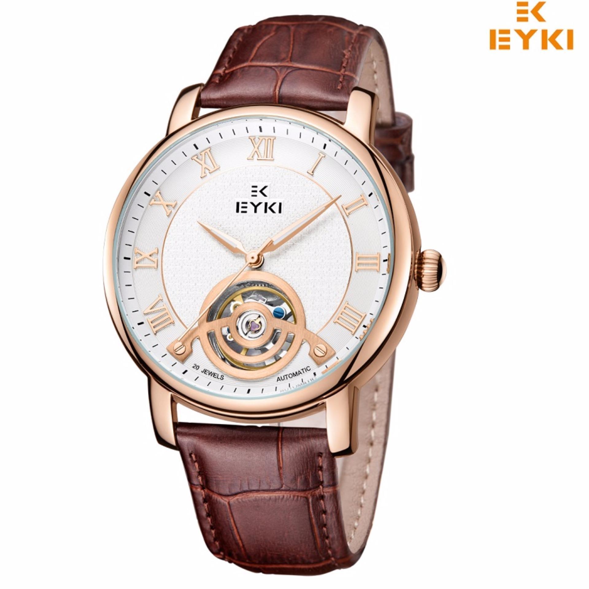 Đồng hồ nam EYKI cơ tự động dây da 038TSGEY (Nâu đồng)