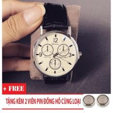 Đồng hồ nam giá rẻ TimeZone Geneva cá tính (Trắng) + Tặng Kèm Pin Đồng Hồ