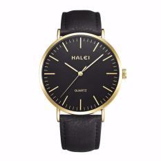 Đồng hồ nam Halei 135 dây da đen chống nước