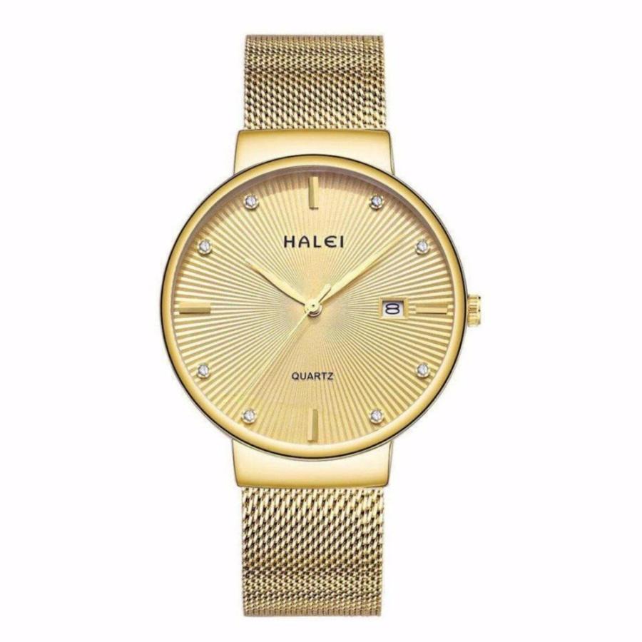 Đồng hồ nam Halei 198 dây mành màu vàng – N1642