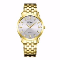 Đồng hồ nam Halei 502 dây vàng mặt trắng chống nước – N1333
