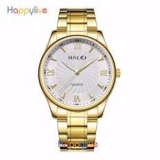 Đồng hồ nam Halei HL154 mặt trắng chống nước cực men