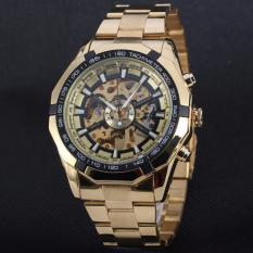 Đồng hồ nam máy cơ Winner TM340 – Gold mặt đen