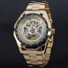Đồng hồ nam máy cơ Winner TM340 – Gold mặt trắng