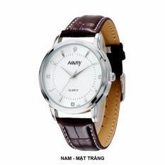Đồng hồ Nam NARY 6106 DÂY DA ĐẸP (Mặt trắng)