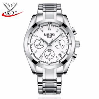 Đồng hồ nam NIBOSI 2310 chạy full 6 kim - Fullbox (mặt trắng)