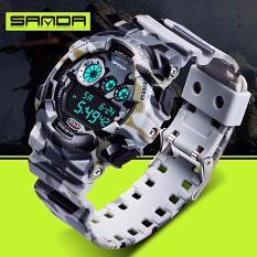 Chỗ bán Đồng hồ nam Sanda điện tử vỏ rằn ri kiểu quân đội chống nước SD01