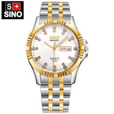 Đồng hồ nam Sino Japan Movt SI3022 white luxury- Công nghệ mạ chân không