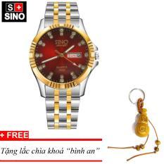 Đồng hồ nam Sino Japan Movt Red Luxury, tặng lắc chìa khoá gỗ bình an MDH-S3022