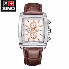 Đồng hồ nam Sino Japan Movt SI2316 dây da cao cấp – trắng