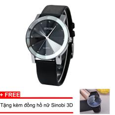 Giá KM Đồng hồ Nam SINOBI 9583 Chống nước (Đen) + Tặng kèm đồng hồ nữ Sinobi 3D