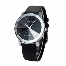 Đồng hồ nam Sinobi dây da 015TSGSI (Đen)